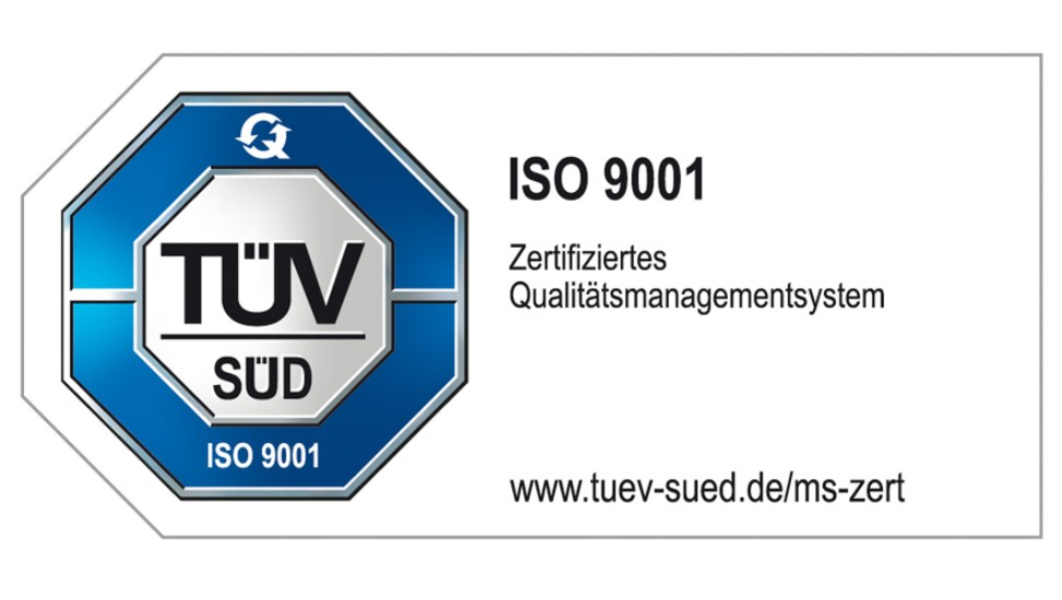 TÜV-Zertifizierung nach ISO 9001:2015